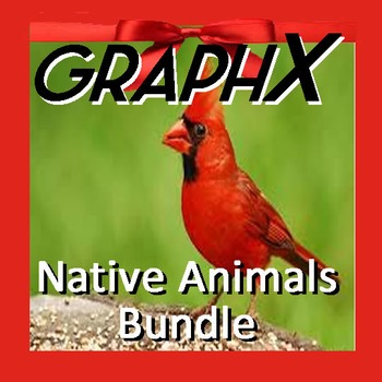 Coordinate Graphing - GraphX - Native Animals Bundle