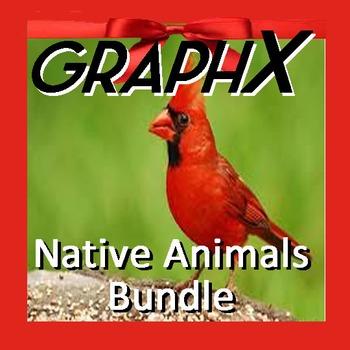 Coordinate Graphing - GraphX - Native Animals Bundle