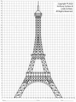 Coordinate Graphing Eiffel Tower Paris France