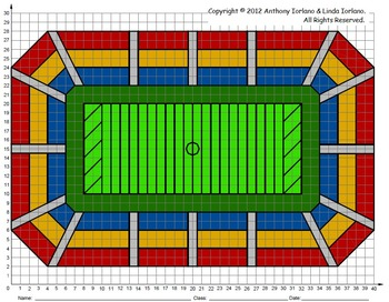 Football Stadium, Bowl & Title & Playoff Games, Coordinate Graphing & Drawing