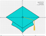 Graduation. Mortarboard, Coordinate Graphing, Coordinate Drawing