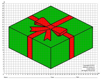 Present, Holiday, Coordinate Drawing, Coordinate Graphing, Mystery Picture