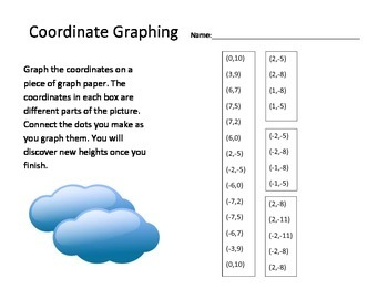 Coordinate Graphing Hot Air Balloon