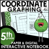 Coordinate Graphing Interactive Notebook Set | Distance Learning