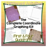 Coordinate Graphing Kit - First/Four Quadrant, Interactive Notes, Activities