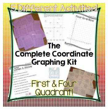 Coordinate Graphing Kit - First/Four Quadrant, Interactive