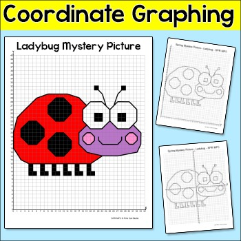 Ladybug Insect Coordinate Graphing Ordered Pairs Mystery Picture