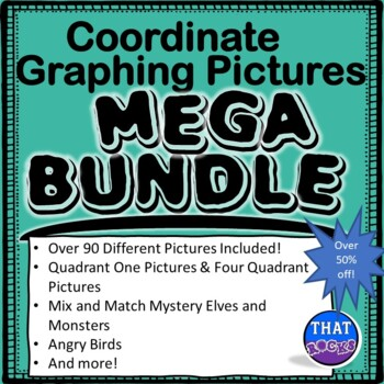 Coordinate Graphing Pictures MEGA Bundle