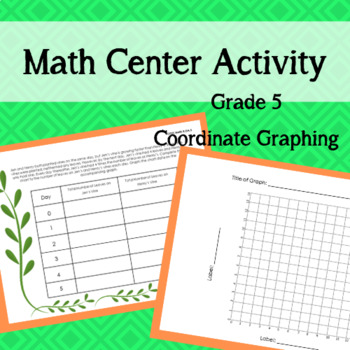Coordinate Graphing Math Center Activity -- FIFTH GRADE