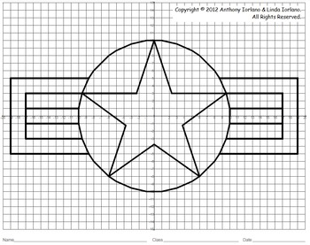 Coordinate Graphing (Memorial Day / Veteran's Day / Air Force)