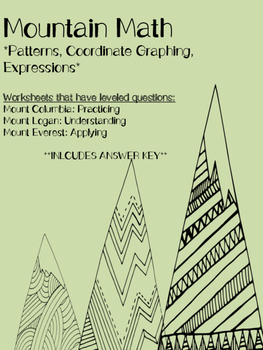 Coordinate Graphing- Mountain Math