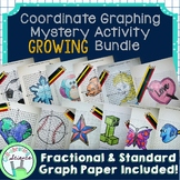 Coordinate Graphing Mystery Activity Growing Bundle