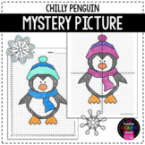 Coordinate Graphing Mystery Picture - Chilly Penguin - Winter