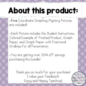 Coordinate Graphing Mystery Pictures February BUNDLE! 20% savings!!