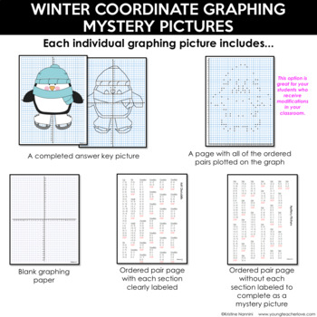 Coordinate Graphing Pictures - Math Activities - BUNDLE