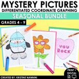 Coordinate Graphing Pictures - Math Activities - BUNDLE - Includes Halloween