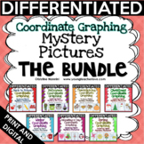 Coordinate Graphing Pictures - Math Activities - BUNDLE Includes Back to School