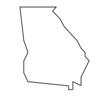 Georgia Outline Map Coordinate Graphing / Ordered Pairs OUTLINE MAP of GEORGIA by