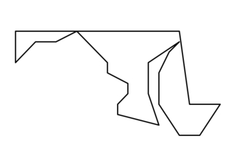 Coordinate Graphing / Ordered Pairs  OUTLINE MAP of MARYLAND