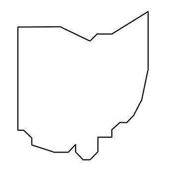 Coordinate Graphing / Ordered Pairs OUTLINE MAP of OHIO