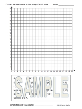 Coordinate Graphing / Ordered Pairs  OUTLINE MAP of TEXAS