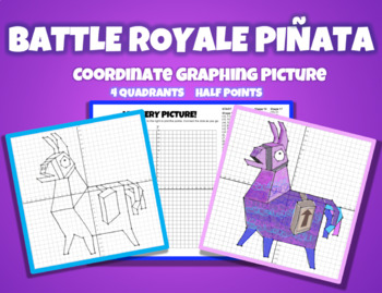 Coordinate Graphing Picture - BATTLE ROYALE PIÑATA
