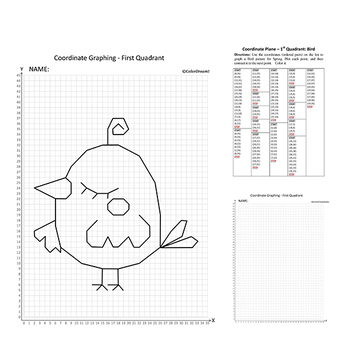 Coordinate Graphing Picture:Bird