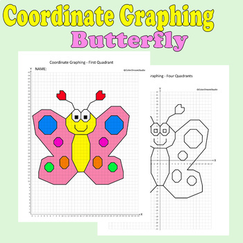Spring/Mother's Day Coordinate Graphing Picture:Butterfly