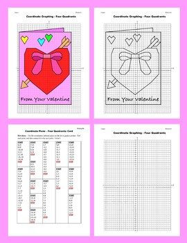 Coordinate Graphing Picture: Card