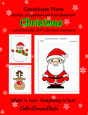 Coordinate Graphing Picture:Christmas Bundle 1