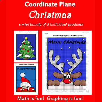 Coordinate Graphing Picture :Christmas Bundle 3 in 1