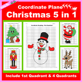 Coordinate Graphing Picture: Christmas Bundle 5 in 1