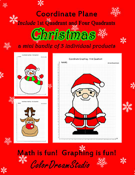 Coordinate Graphing Picture:Christmas Bundle 9 in 1