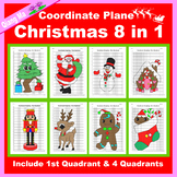 Coordinate Graphing Picture: Christmas Mega Bundle 8 in 1