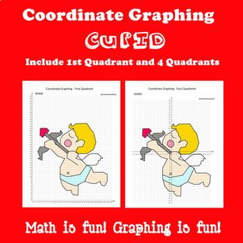 Valentine's Day Coordinate Graphing Picture: Cupid