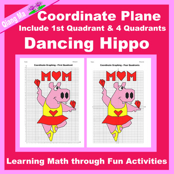 Mother's Day Coordinate Graphing Picture: Dancing Hippo