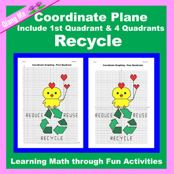 Coordinate Graphing Picture: Earth Day Bundle 4 in 1