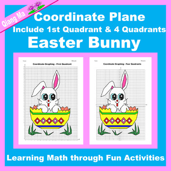 Coordinate Graphing Picture: Easter Bundle 4 in 1