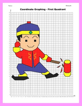 Coordinate Graphing Picture: Firecracker