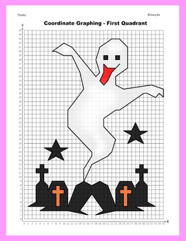 Halloween Coordinate Graphing Picture: Ghost