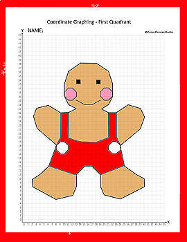 Coordinate Graphing Picture:Gingerbread Boy