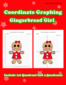 Coordinate Graphing Picture:Gingerbread Girl