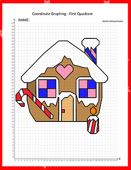 Coordinate Graphing Picture:Gingerbread House