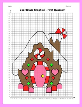 Coordinate Graphing Picture: Gingerbread House