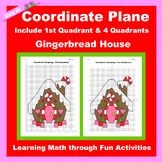 Christmas Coordinate Graphing Picture: Gingerbread House