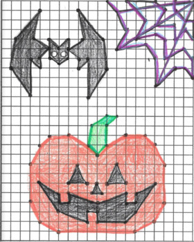 Coordinate Graphing Picture - HALLOWEEN