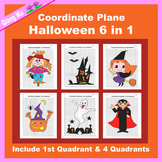 Halloween Coordinate Graphing Picture: Halloween Bundle 6 in 1