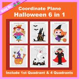 Halloween Coordinate Graphing Picture: Halloween Bundle 6 in 1