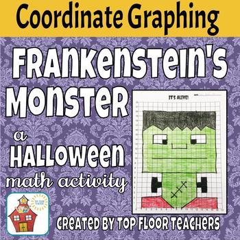 Coordinate Graphing Picture - Halloween Theme - Frankenstein Monster