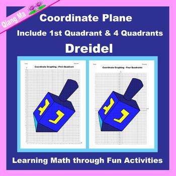 Coordinate Graphing Picture: Hanukkah Bundle 3 in 1